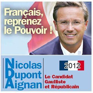 Dupont-aignan 2012