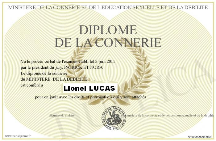 Diplome connerie lucas